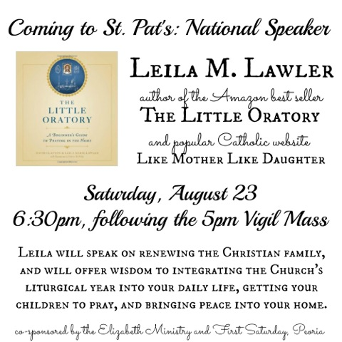 Leila Lawler talk announcement